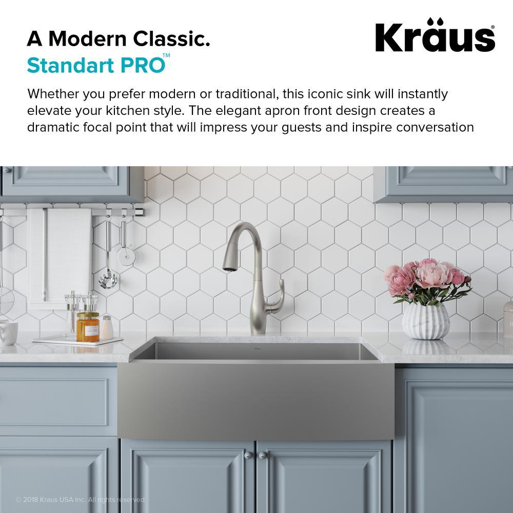 Single Bowl Kitchen Sink Khf200 33, Kraus Farmhouse Sink