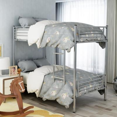 Sliver Twin Over Twin Metal Bunk Bed