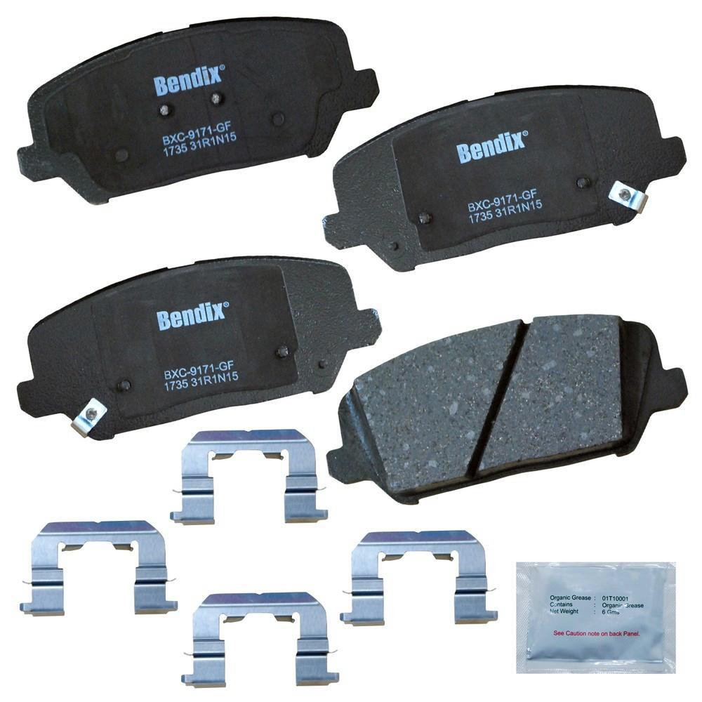 Disc Brake Pad Set-Premium Copper Free Ceramic BPR Disc Brake Pad Front Bendix