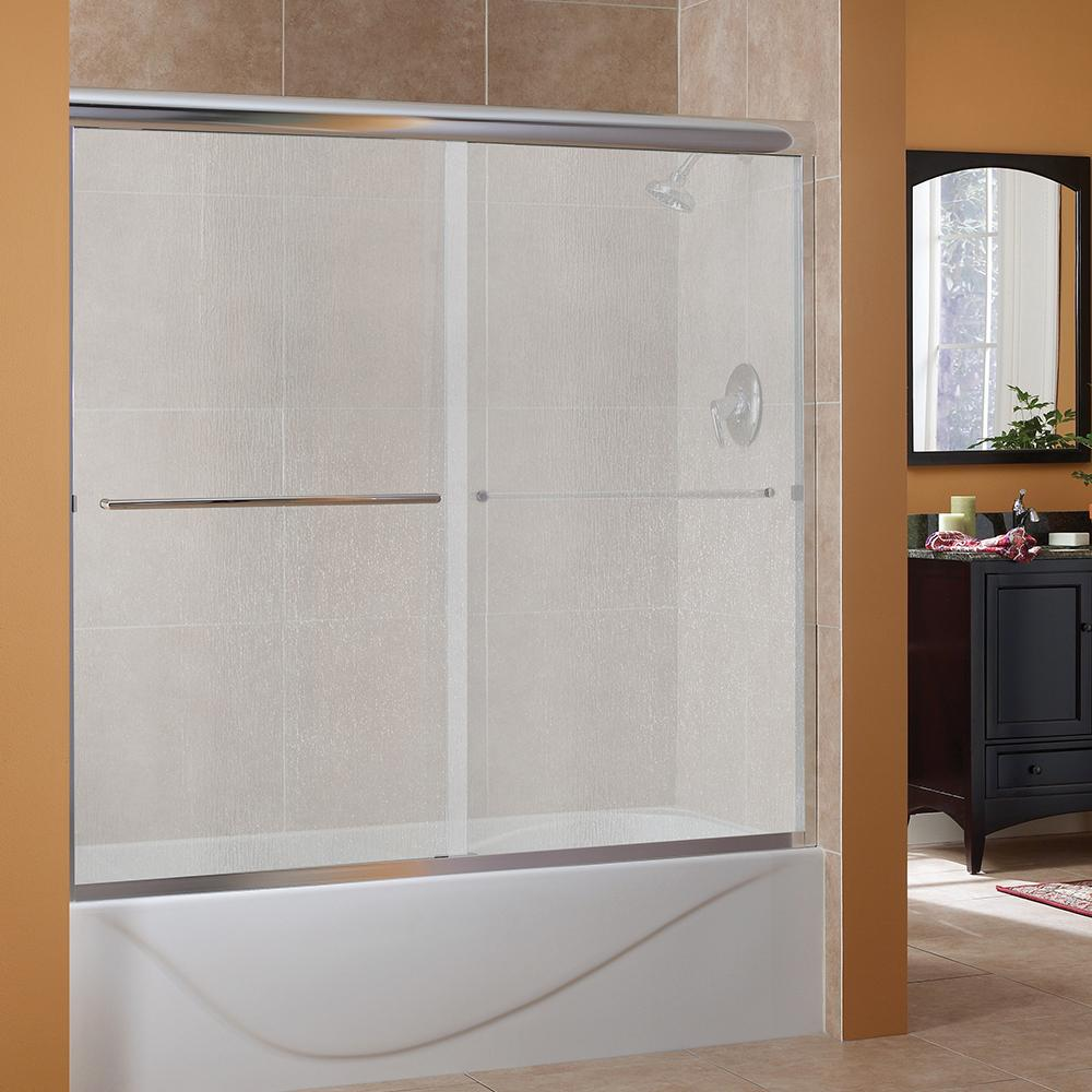 Awesome Semi Framed Sliding Tub Door In