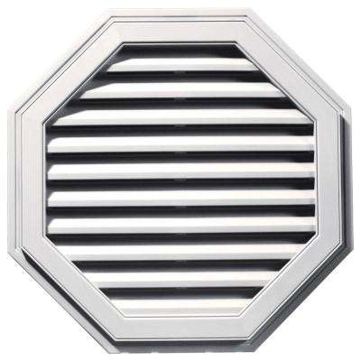 32 in. Octagon Gable Vent in Bright White