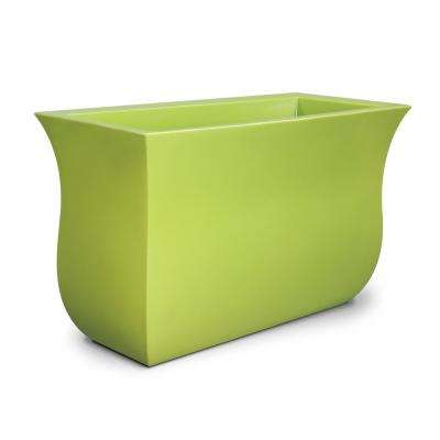 Valencia 36 in. x 16 in. x 22 in. Macaw Green Long Polyethylene Planter