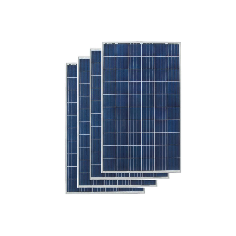 Grape Solar 265 Watt Polycrystalline Solar Panel 4 Pack