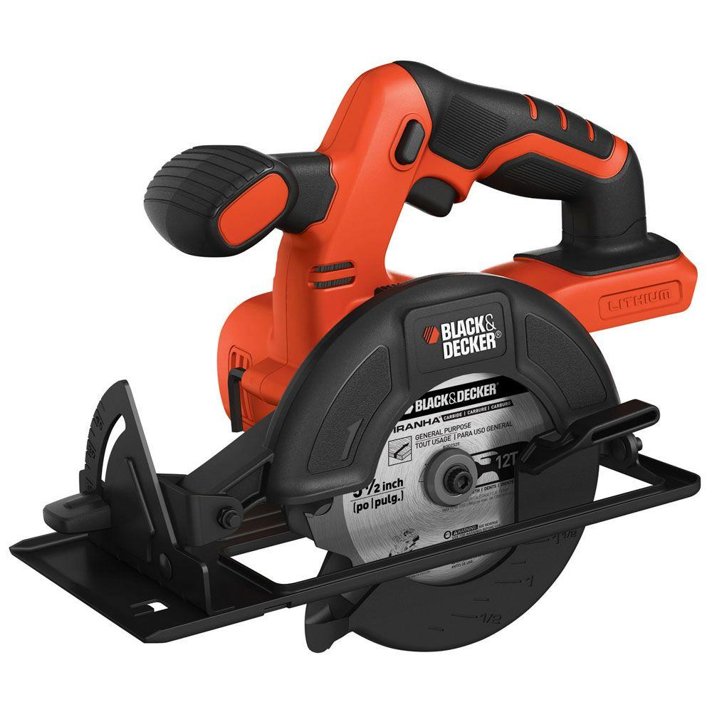 black decker 20 volt max lithium ion cordless 5 1 2 in circular saw tool only bdccs20b the. Black Bedroom Furniture Sets. Home Design Ideas