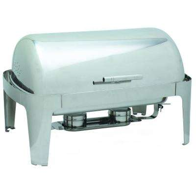 8 qt. Roll Top Rectangular Times Square Chafer in Stainless Steel