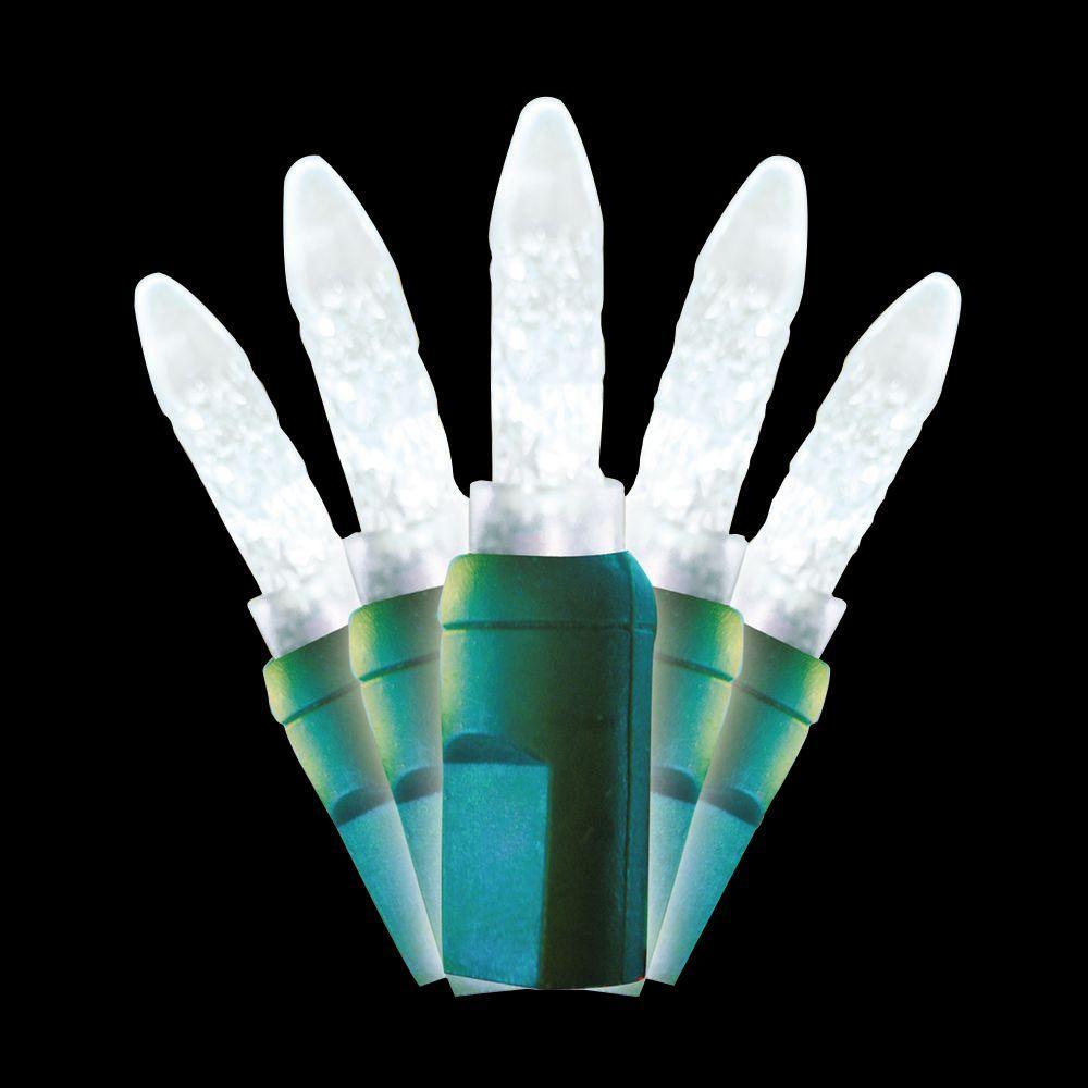 35-Light LED Pure White Ice Mini Light Set