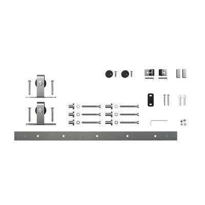 4 ft. Stainless Steel Mini Sliding Rolling Barn Door Hardware Kit for Single Furniture Wood Doors