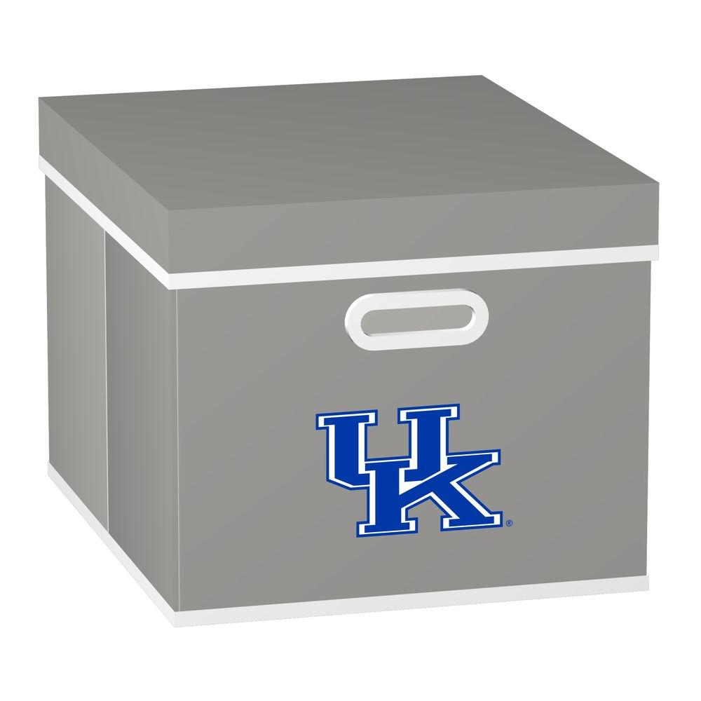 MyOwnersBox College STACKITS University of Kentucky 12 in. x 10 in. x 15 in. Stackable Grey Fabric Storage Cube