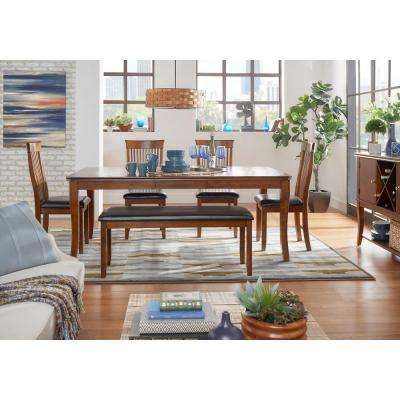 Hillside 6 Piece Weathered Chestnut Dining Set