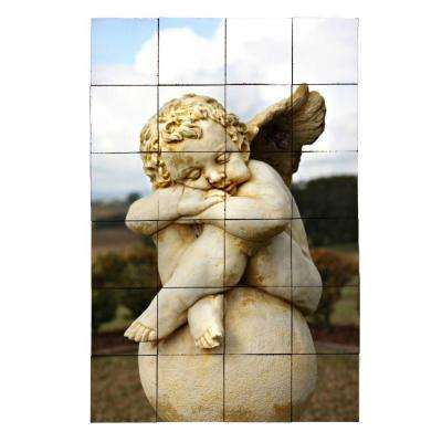Angel2 24 in. x 36 in. Tumbled Marble Tiles (6 sq. ft. /case)