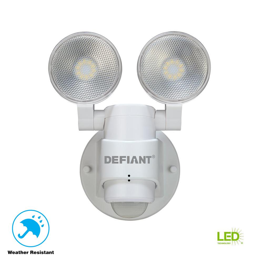 Defiant 180 Degree 2-Head White Outdoor Flood Light-DFI