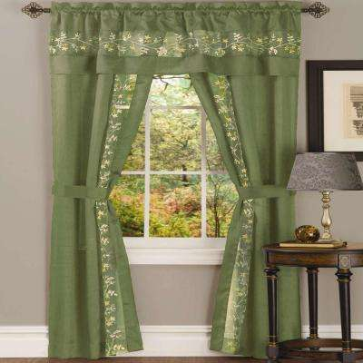 Sheer Fairfield Window Curtain Set