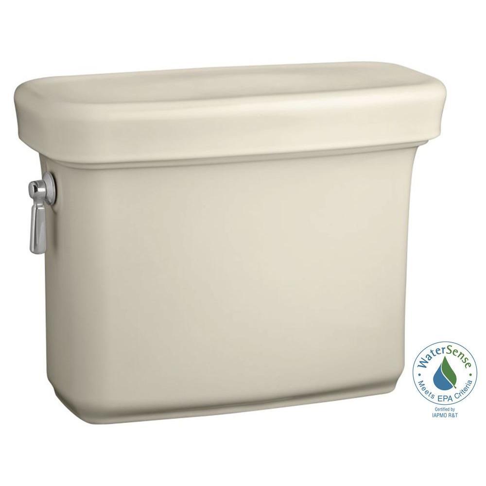 Bancroft 1.28 GPF Single Flush Toilet Tank Only with AquaPiston Flush Technology in Almond