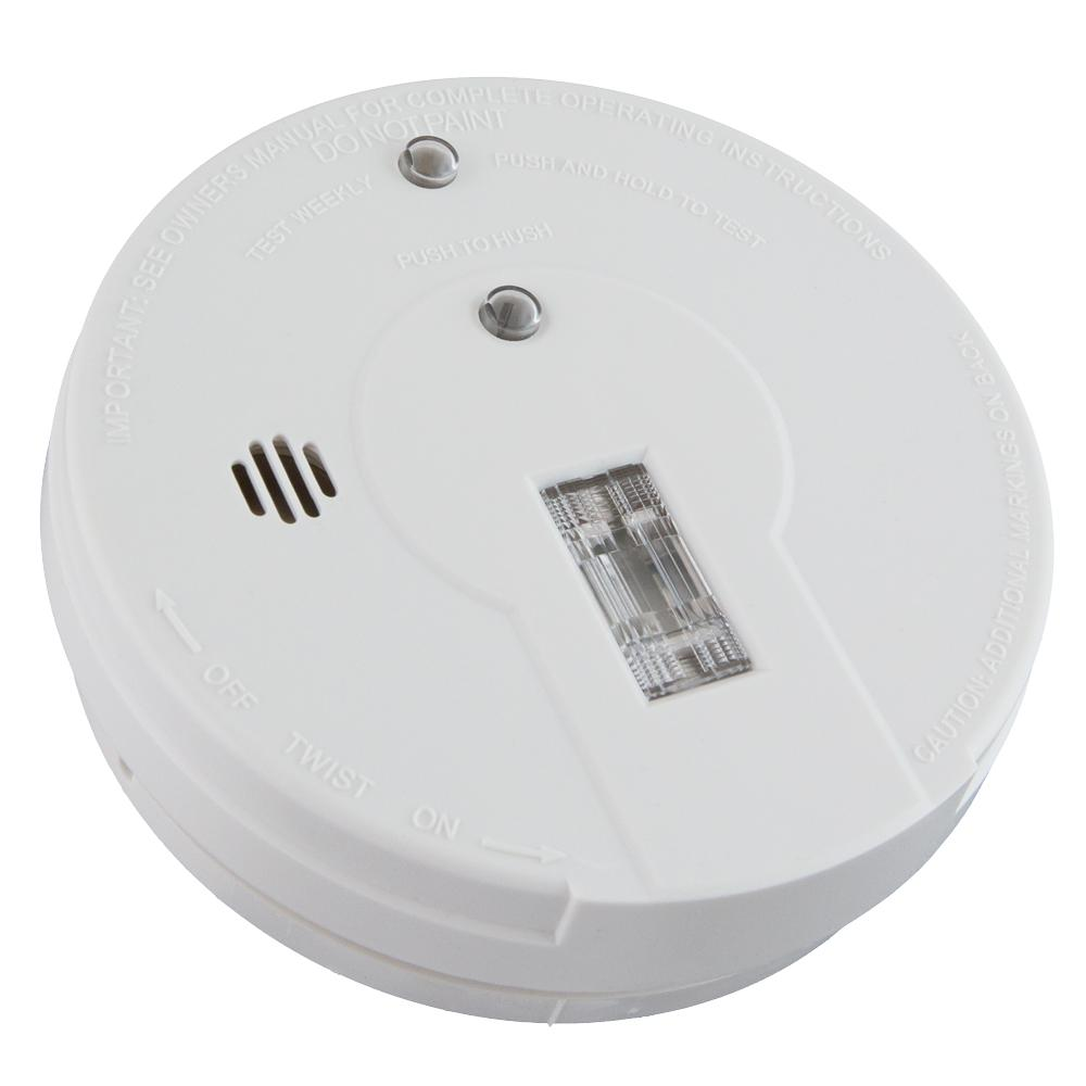 Kidde Battery Operated Smoke Detector With Safety Light 21026052