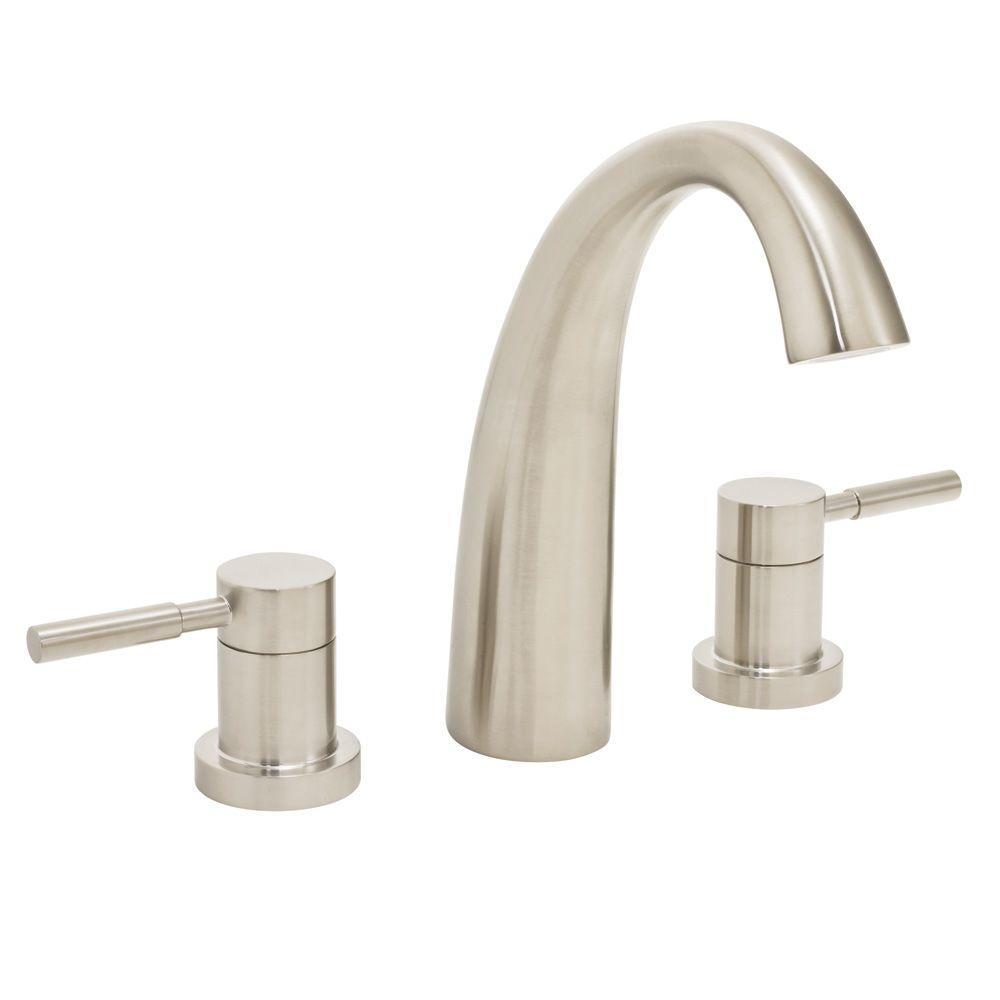 Speakman Neo 2-Handle Deck-Mount Roman Tub Faucet in Brushed Nickel