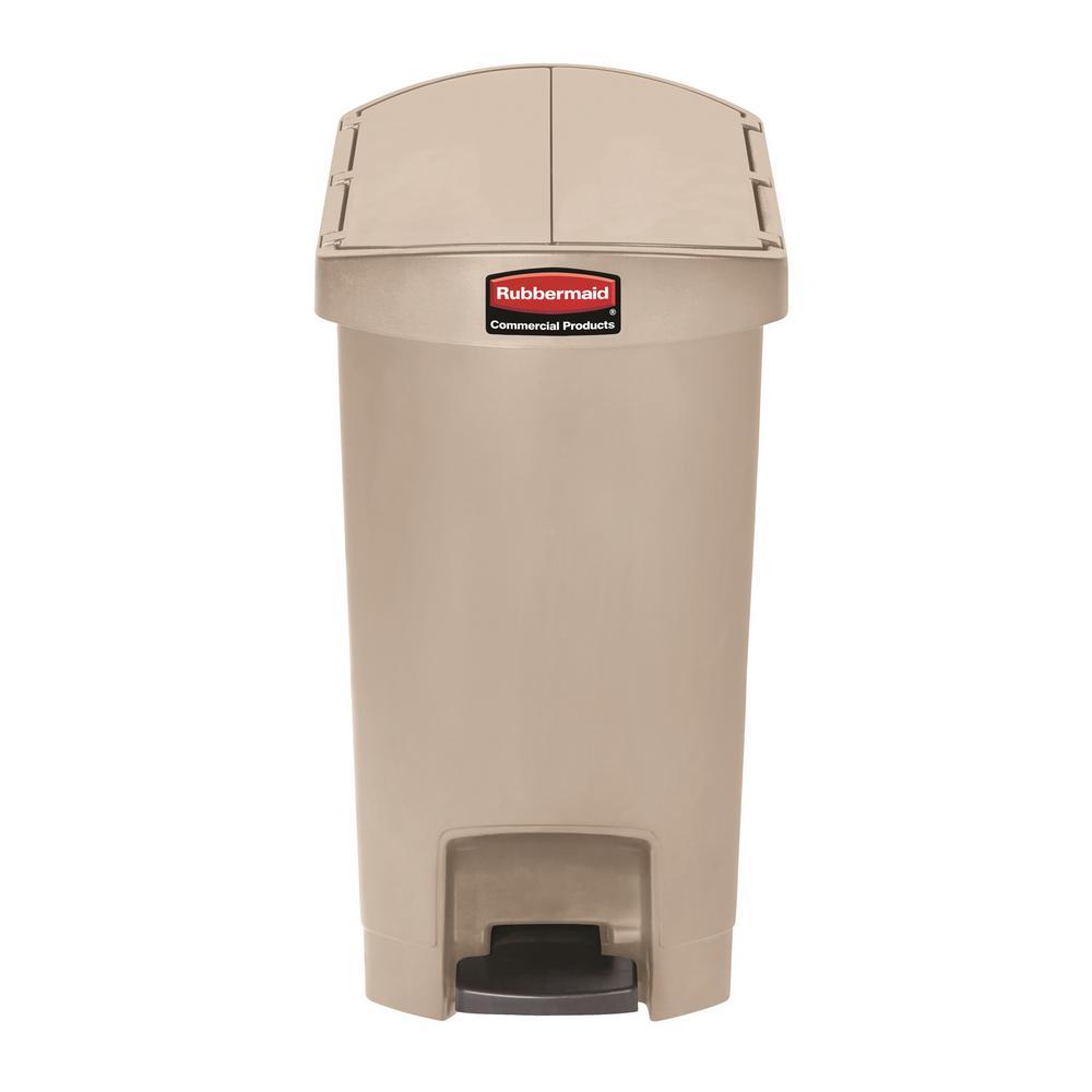rubbermaid commercial slim jim resin step on wastebasket end step 8 gallon