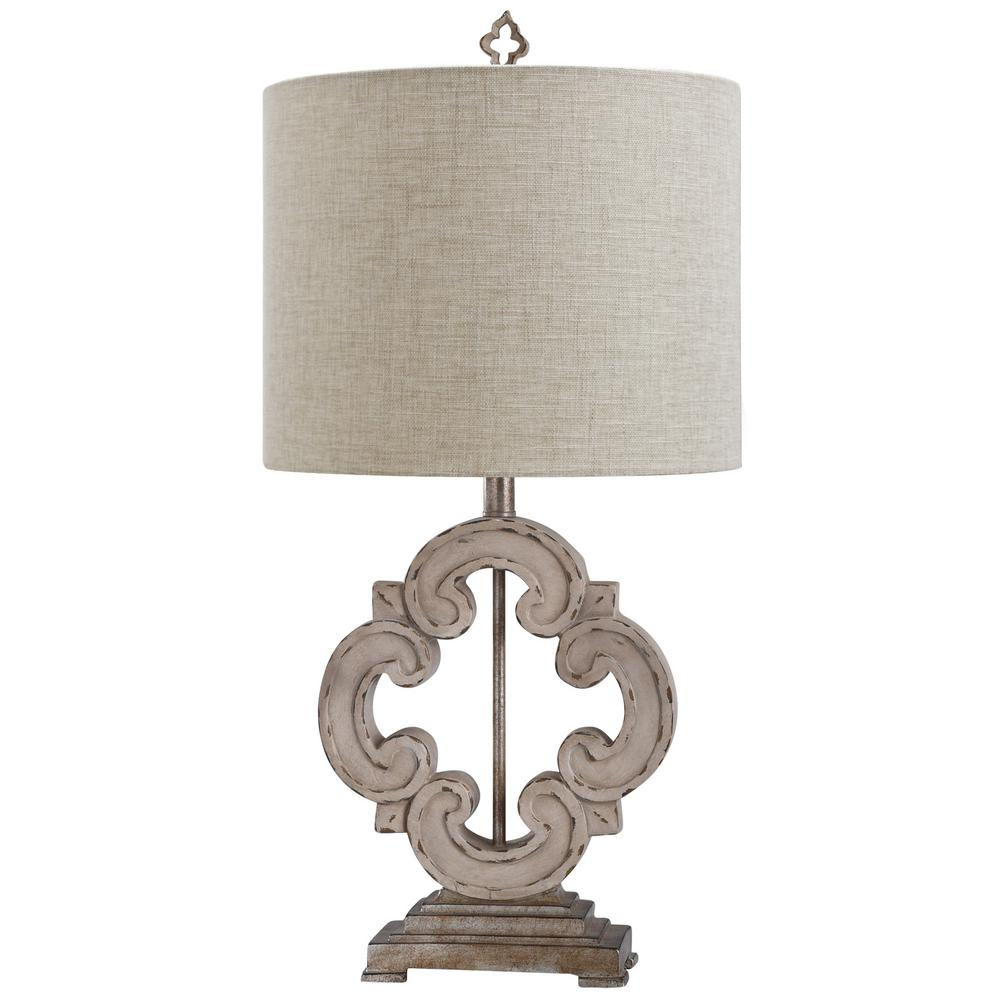Stylecraft Tuscany Cream 30 In Oatmeal Table Lamp L317277ds The Home Depot