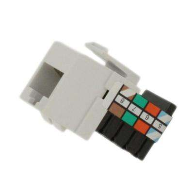 QuickPort 8P8C Voice Grade Connector, White