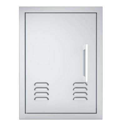 Signature Series 17 in. x 23 in. 304 Stainless Steel Left Swing Vertical Vented Door
