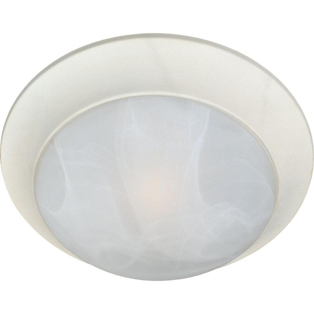 Essentials 3-Light Textured White Flush Mount