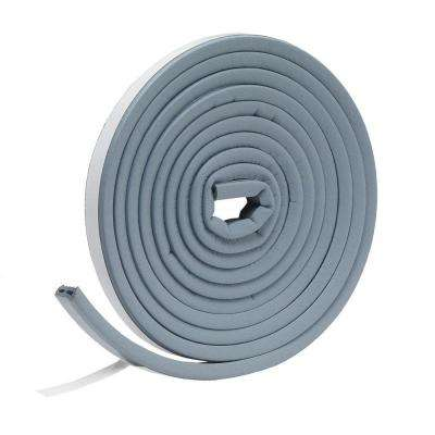 E/O 9/16 in. x 5/16 in. x 10 ft. Gray EPDM Cellular Rubber Weatherstrip Tape