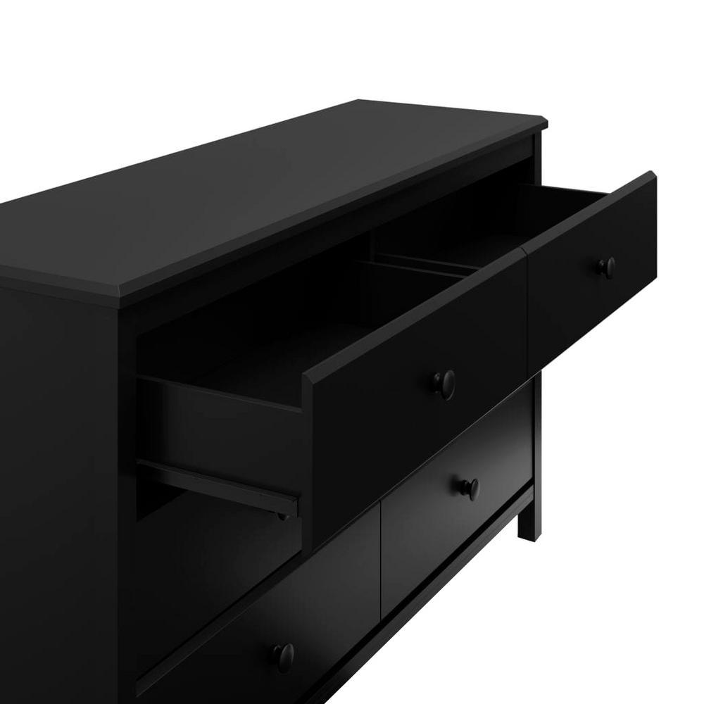 6 Drawer Alpine Black Dresser 03666 40b