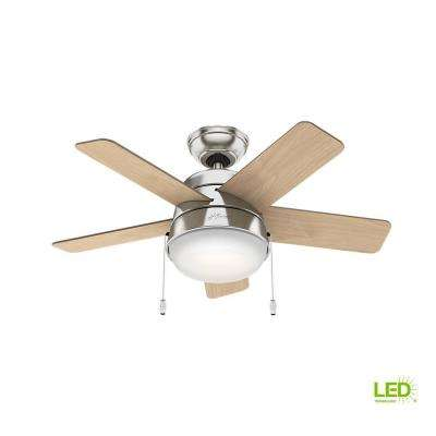 1 Light 5 Blades Mid Century Modern Ceiling Fans With Lights
