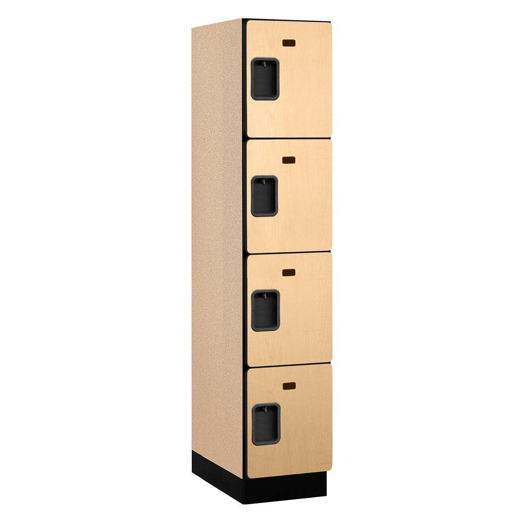 Salsbury industries 24000 series 4 tier wood extra wide for Designer lockers
