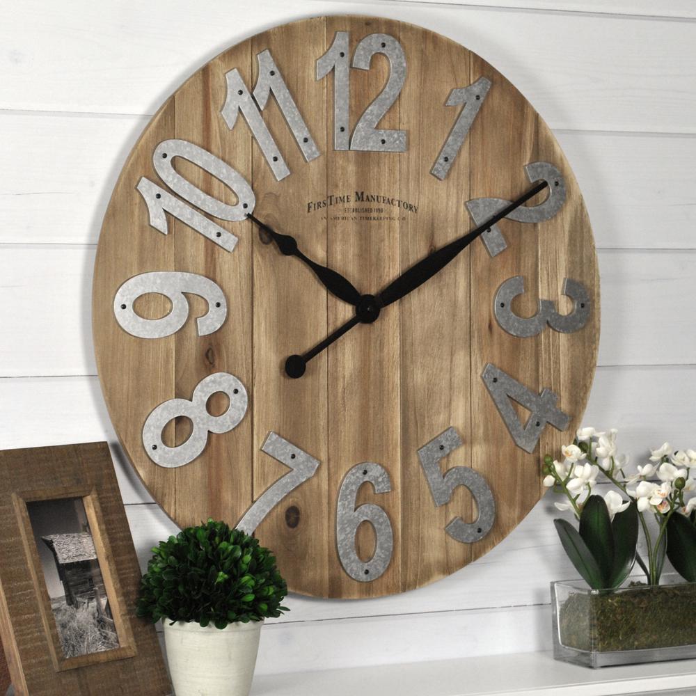 Slat Wood Wall Clock