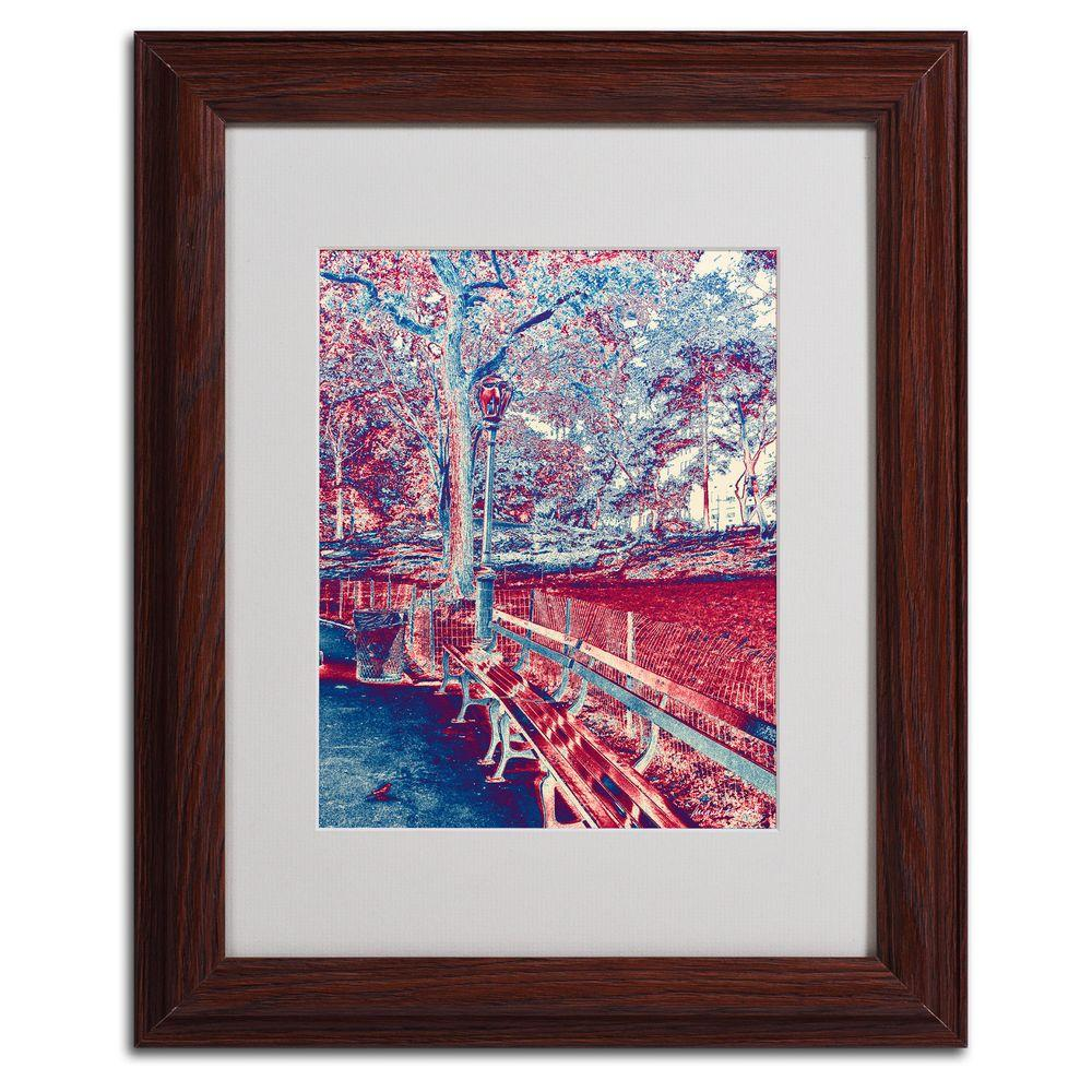 Trademark Fine Art 11 in. x 14 in. Red Blue I Matted Framed Art