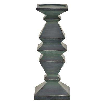 12 in. Green Candle Holder