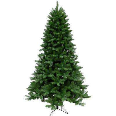 6.5 ft. Greenland Pine Artificial Christmas Tree with Clear LED String Lighting