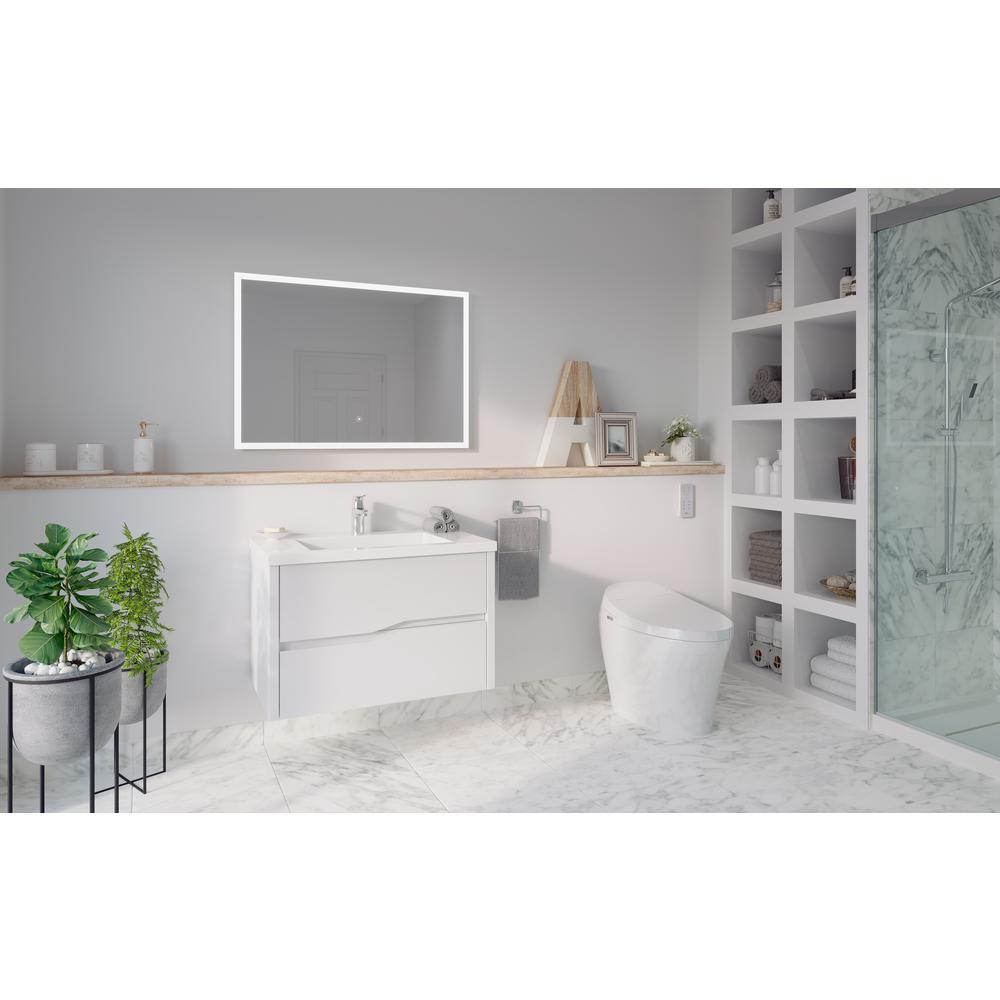 Lena Elongated Electric Bidet Toilet in White