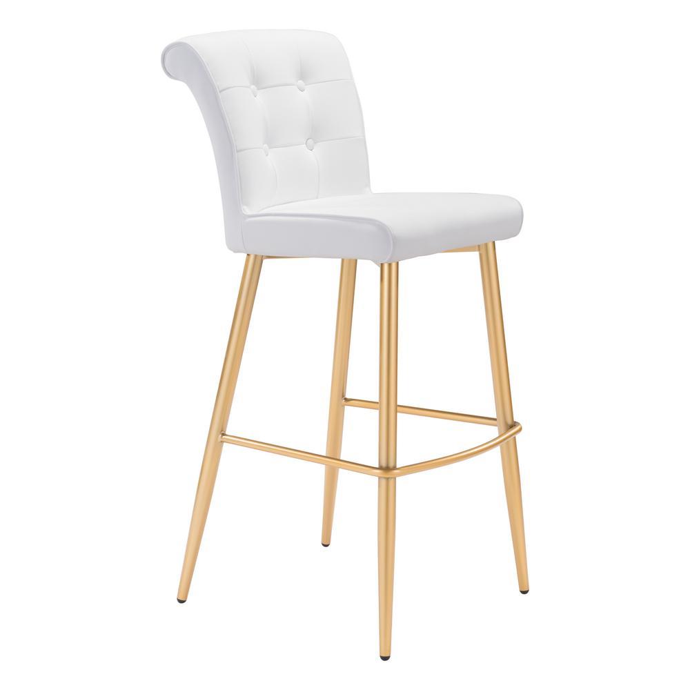 Niles 42.1 in. White Bar Chair