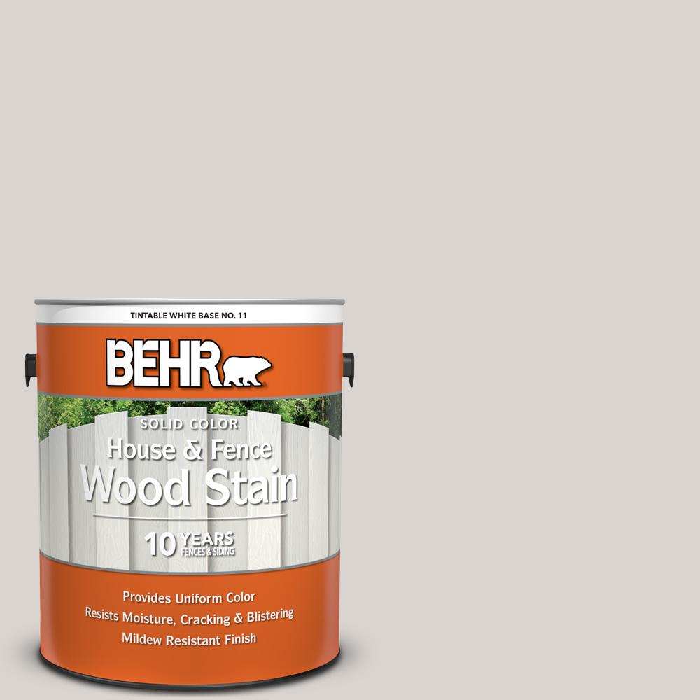 BEHR 1 gal. #HDC-MD-21 Dove Solid Color House and Fence Exterior Wood Stain