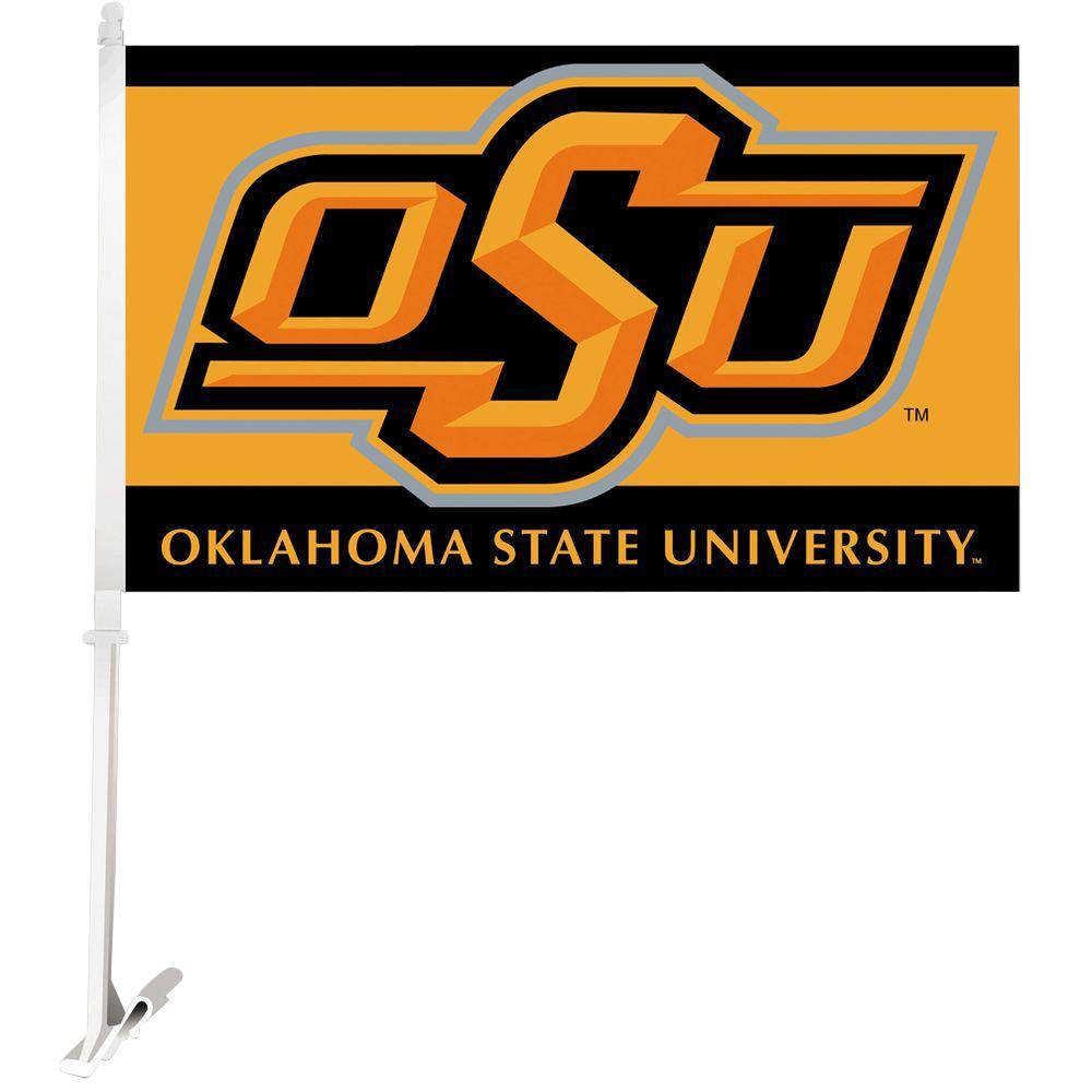 NCAA 11 in. x 18 in. Oklahoma State 2-Sided Car Flag