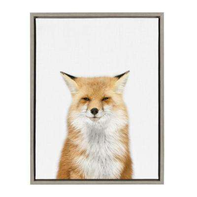 "Sylvie ""Animal Studio Fox 3"" by Amy Peterson Framed Canvas Wall Art"