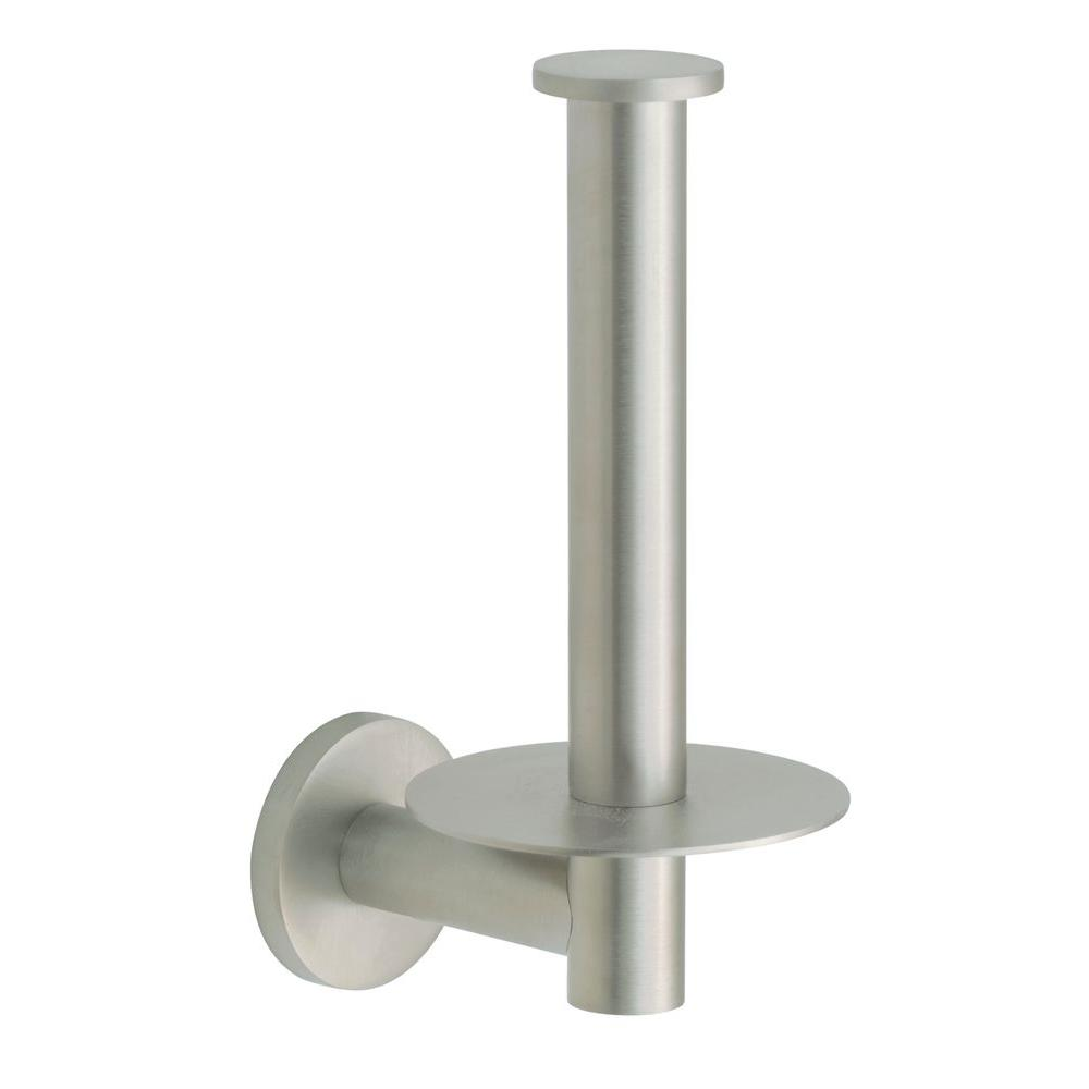 Kohler Stillness Wall Mount Single Post Toilet Paper Holder In Vibrant Brushed Nickel