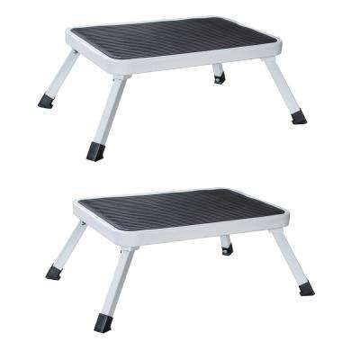1-Step Folding Mini Step Stool with 330 lbs. Load Capacity (Set of 2)
