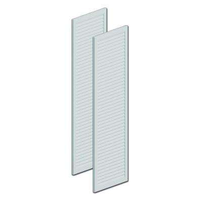 60 in. x 16 in. x 1 in. Polyurethane Louvered Shutters without Center Rail Pair