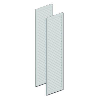 60 in. x 24 in. x 1 in. Polyurethane Smooth Louvered Shutters Pair