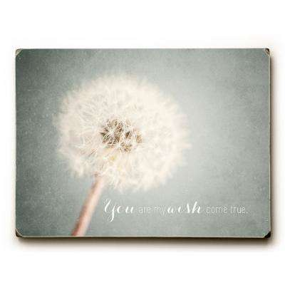 """9 in. x 12 in. """"Wish Come True"""" by Lisa Russo Solid Wood Wall Art"""
