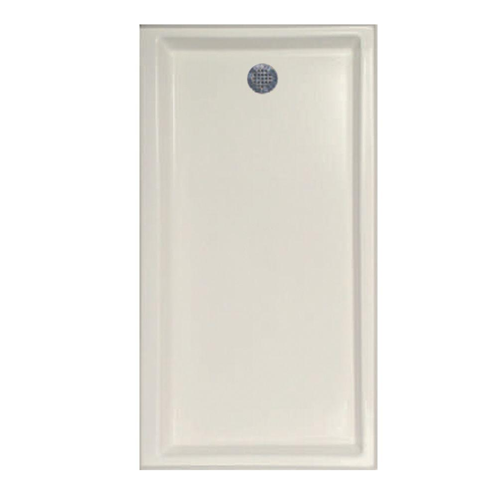 60 in. x 30 in. Single Threshold Shower Base with Left-Hand