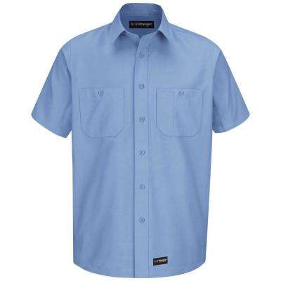 Men's Size 4XL Light Blue Work Shirt