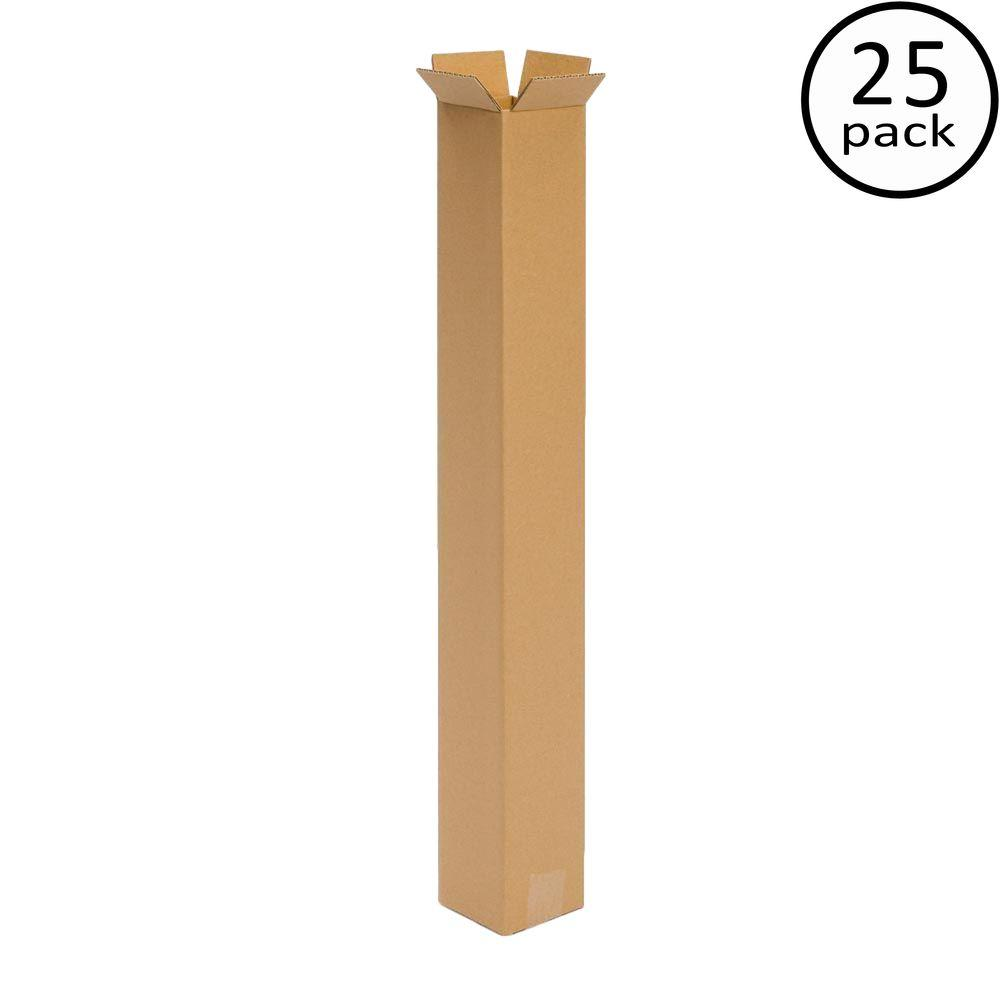 Plain Brown Box 6 in. x 6 in. x 36 in. 25 Moving Box Bundle