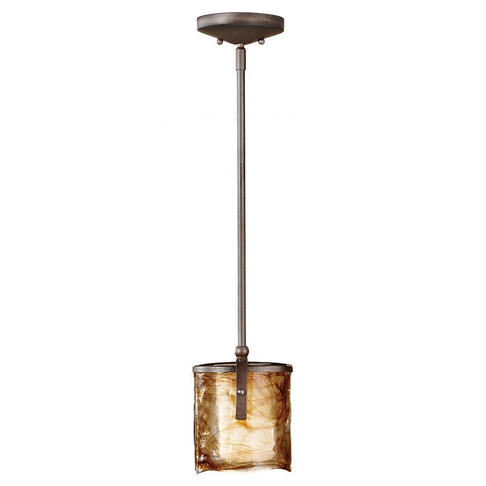 Feiss Aris 1-Light Roman Bronze Mini Pendant