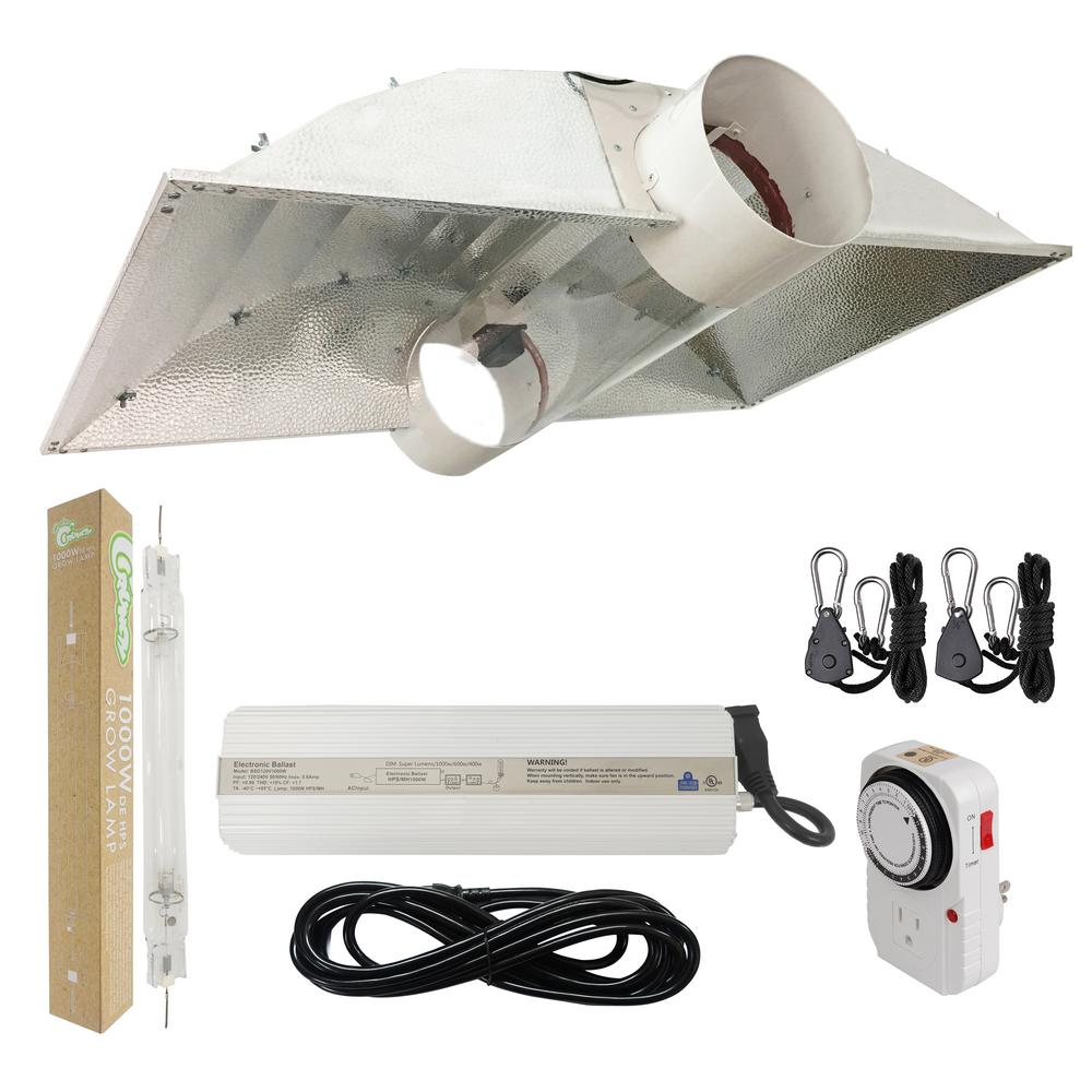 1000-Watt Double Ended HPS 120-Volt/240-Volt Grow Light System with DE 8