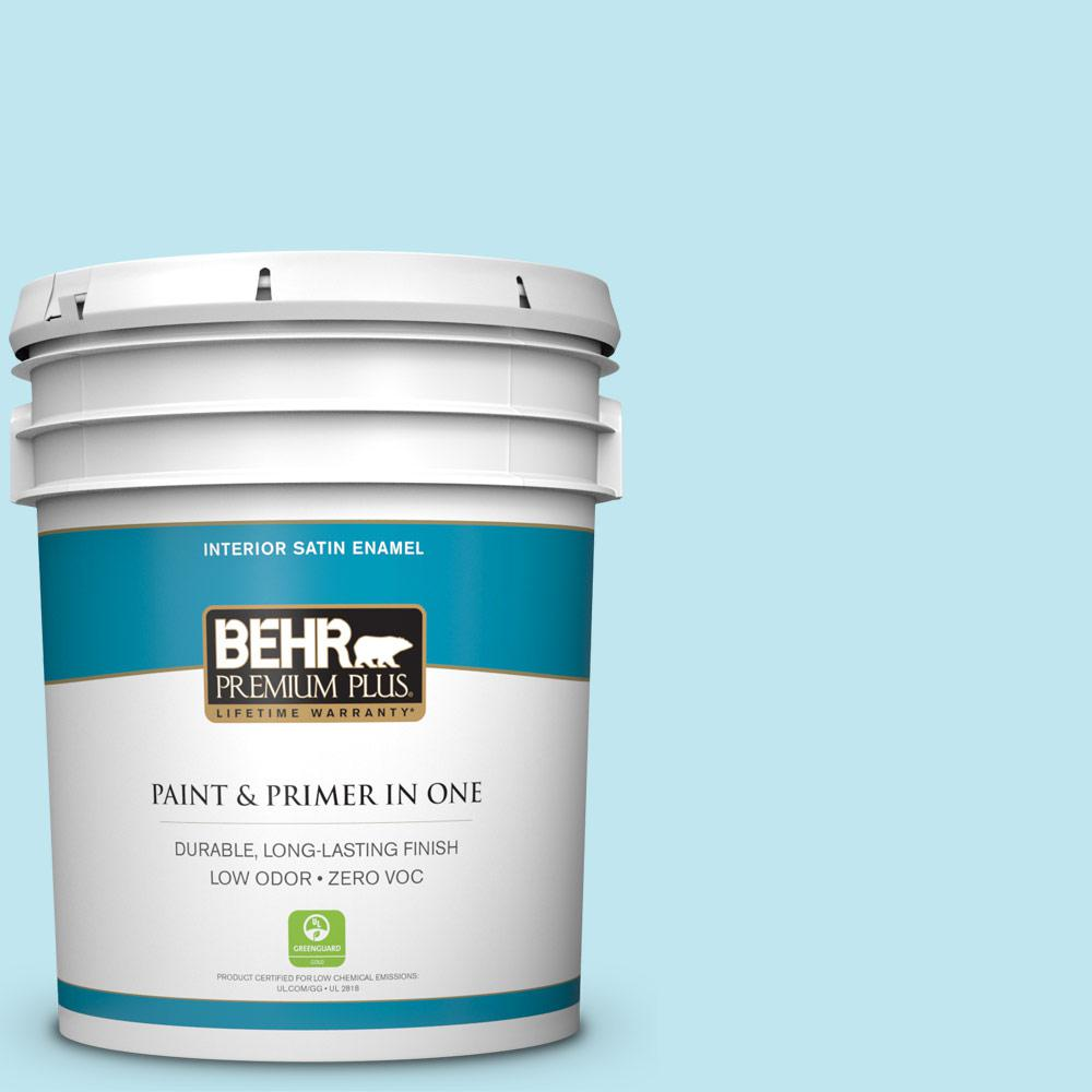 5-gal. #520A-2 Ice Flower Zero VOC Satin Enamel Interior Paint