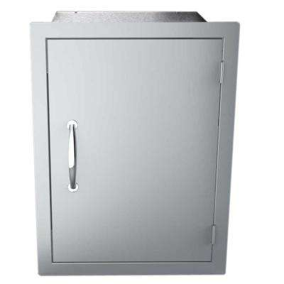 Classic Series 17 in. x 24. in 304 Stainless Steel Vertical Dry Storage