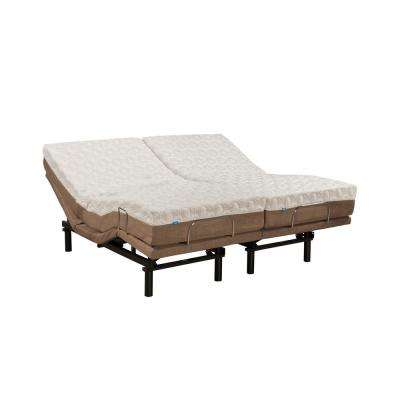 10 In. Peony Split King Memory Foam Mattress And M2000 Adjustable Base Set